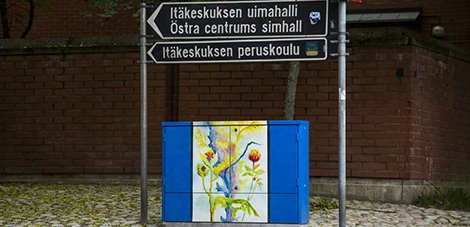 New art displayed on electricity distribution cabinets in Helsinki
