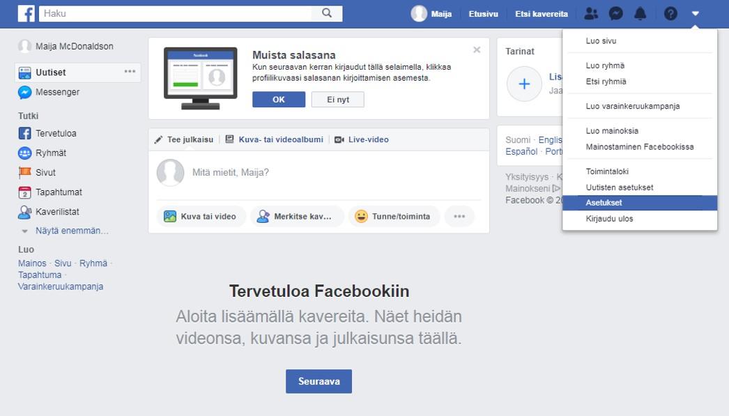 Kirjaudu Facebook