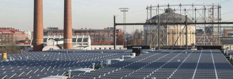 Suvilahti solar power plant is already in production