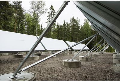 Solar collectors in Sakarinmäki