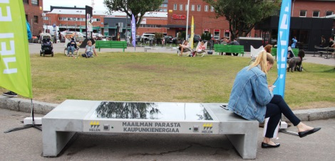 First solar panel benches to be installed in Helsinki