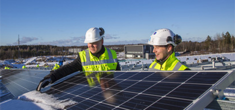 Finland's largest solar power plant is near completion