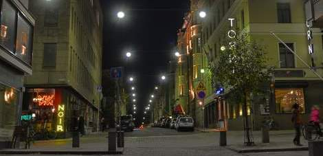 New LED lighting for Kalevankatu